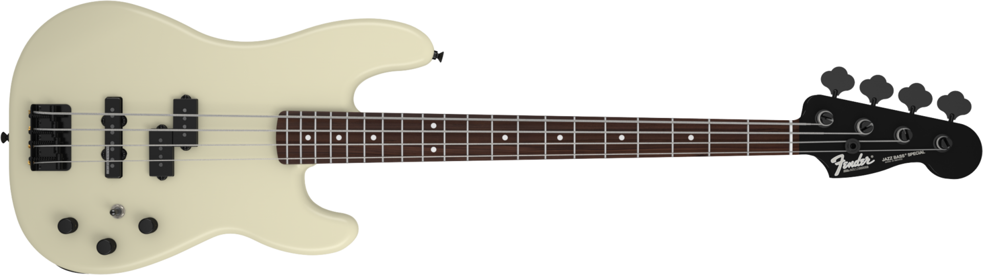 Fender Duff McKagan P Bass? Rosewood Fingerboard, Pearl White, Black Painted Neck basszusgitár